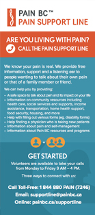 Pain Support Line brochure