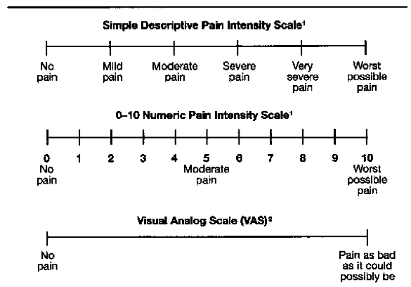 Simple Descriptive Pain Scale