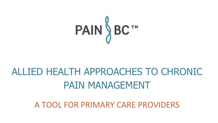 Allied Health Approaches to Chronic Pain Management - A Tool for Primary Care Providers